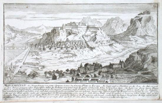 Montmelian - Alte Landkarte