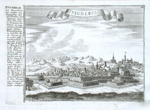 Pignerol - Stará mapa