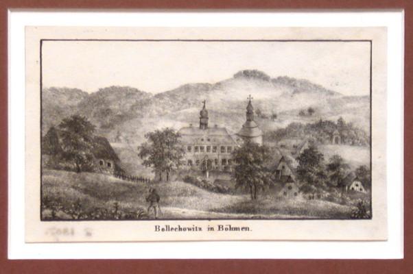 Bollechowitz in Böhmen - Alte Landkarte
