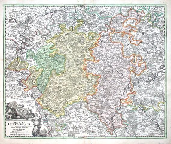 Ducatus Luxemburgi - Antique map