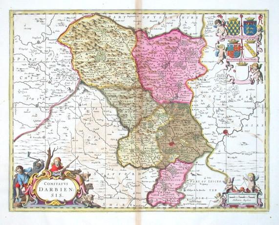 Comitatvs Darbiensis - Alte Landkarte