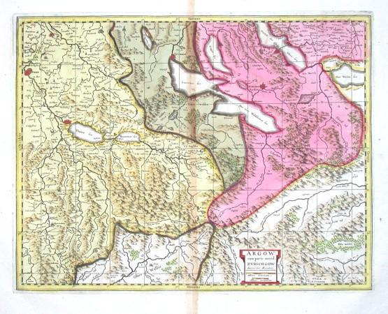 Argow cum parte merid. Zvrichgow - Alte Landkarte