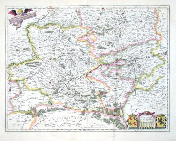 Comitatvvm Hannoniae et Namvrci descriptio - Alte Landkarte