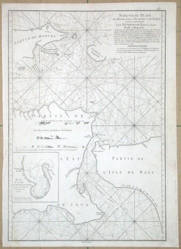 Nouveau Plan des Détroits  de Java et de Madura  les Détroits de Bali - Alte Landkarte