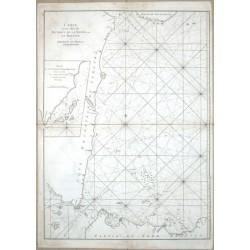 Carte  du Détroit de la Sonde ou de Batavia au Détroit de Banca