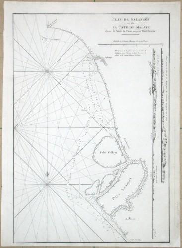 Plan de Salangor et de la Cote de Malaye - Alte Landkarte