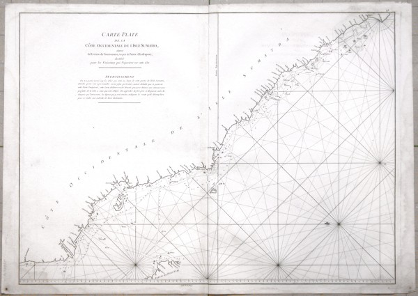 Carte Plate de la Côte Occidentale de l'Isle Sumatra - Stará mapa