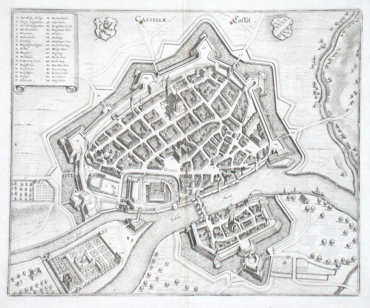 Cassellae - Cassel - Alte Landkarte