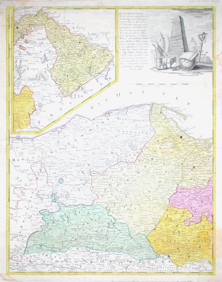 Borussiae Occidentalis Tabula - Alte Landkarte