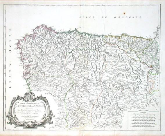 Partie Septentrionale de la Couronne de Castille - Stará mapa