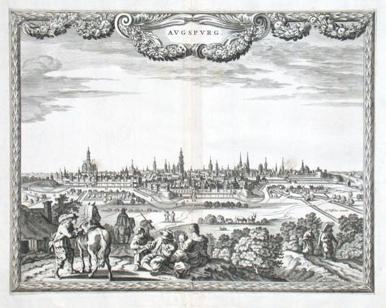 Augspurg - Antique map