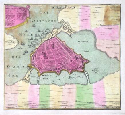 Stralsund - Alte Landkarte
