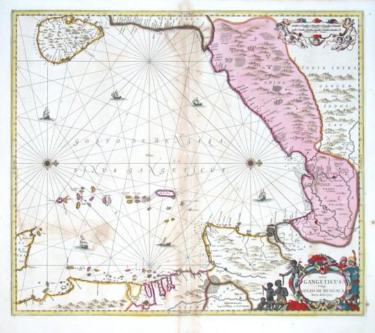 Sinus Gangeticus - Vulgo Golfo de Bengala Nova descriptio - Alte Landkarte
