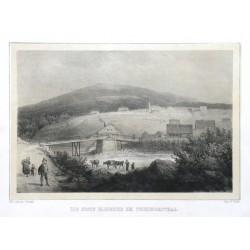 Die erste Elbbrücke bei Friedrichsthal