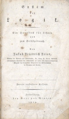 System der Logik. Ein Handbuch für Lehrer und zum Selbstgebrauch.