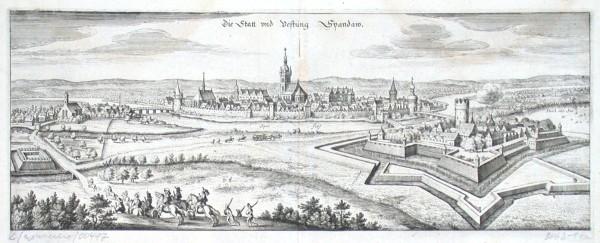 Die Statt und Vestung Spandau - Alte Landkarte