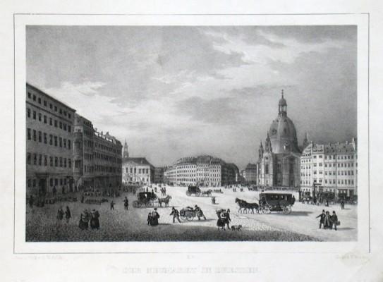Der Neumarkt in Dresden - Stará mapa