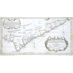 Fortsetzung der Karte von der Küste von Guinea
