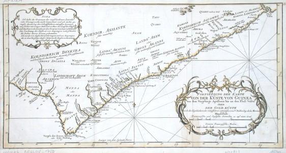 Fortsetzung der Karte von der Küste von Guinea - Stará mapa