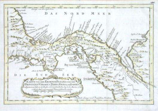 Karte von der Erdenge Panama