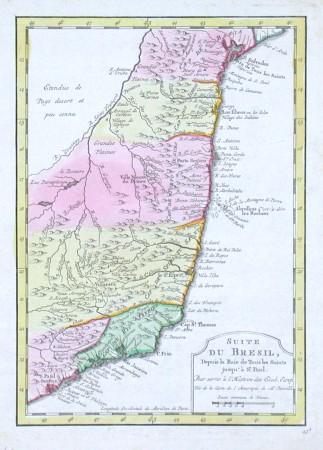 Suite du Bresil, Depuis la Baie de Tous les Saints jusqu' a St. Paul - Stará mapa