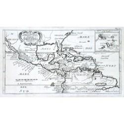 Tabula Regionum in America Media Sitarum. Land Karte des Mittlern theils von America