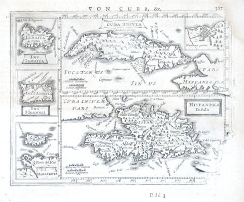 Cvba Insvla, Hispaniola Insula - Alte Landkarte