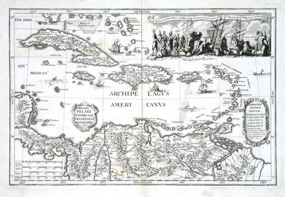 Archipelagi Americani delineatio geographica - Alte Landkarte