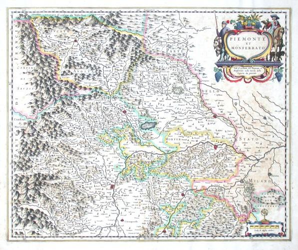 Piemonte et Monferrato - Alte Landkarte