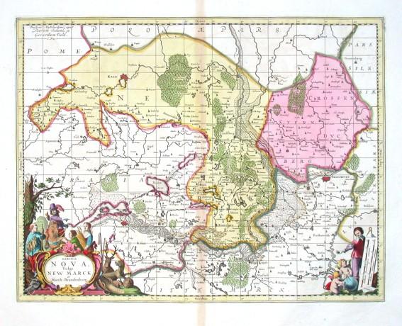 Marchia Nova - Vulgo New Marck in March: Brandenburg: - Alte Landkarte