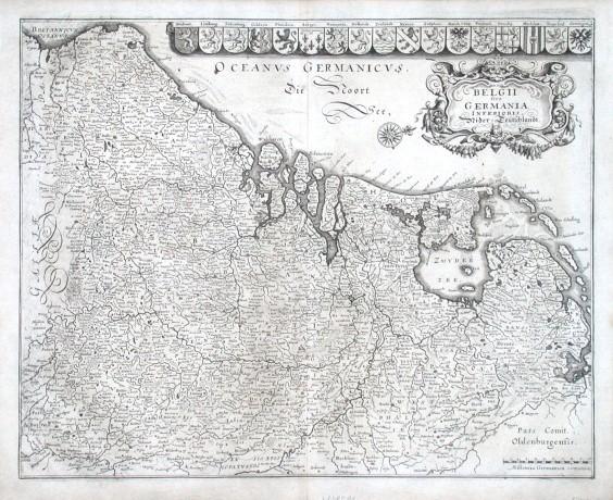 Belgii sive Germania Inferioris. Nider-Teütschlandt - Alte Landkarte
