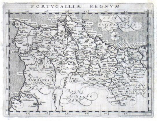 Portvgalliae Regnvm - Alte Landkarte