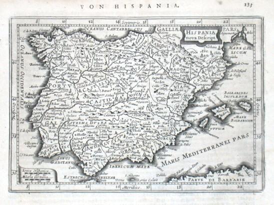 Hispania nova Descript. - Alte Landkarte