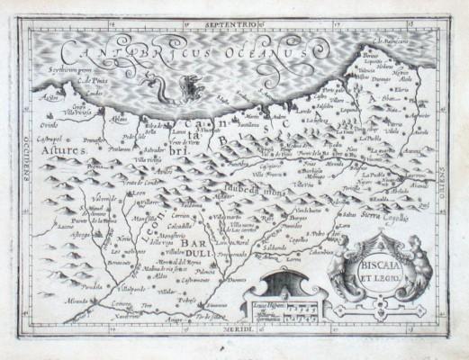 Biscaia et Legio - Stará mapa