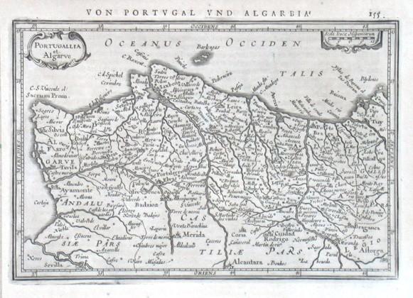 Portugallia et Algarve - Alte Landkarte