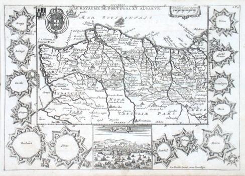 Le Royaume de Portugal et Algarve - Stará mapa