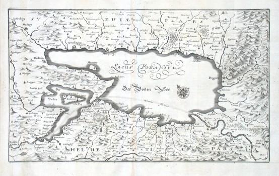 Lacus Bodamicus. Der Boden See - Stará mapa