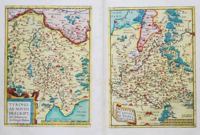 Turingiae Noviss. Descript. - Misniae et Lusatiae Tabula - Alte Landkarte