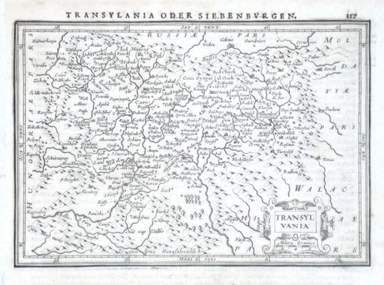 Transylvania - Alte Landkarte