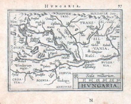 Ungarn - Hungaria - Alte Landkarte