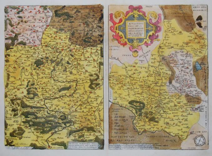 Bayern - Franken, Münster und Osnabrück - Franciae Orientalis (vulgo Franckenlant) Descriptio - Alte Landkarte