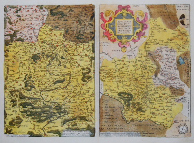 Bavaria - Franconia, Münster and Osnabrück - Franciae Orientalis (vulgo Franckenlant) Descriptio