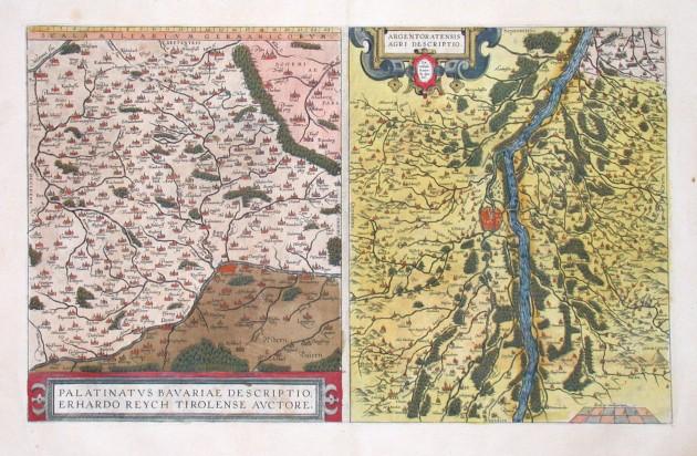 Upper Palatinate and Strasbourg (Rhine) - Palatinatus Bavariae Argentoratensis Agri Descriptio - Antique map