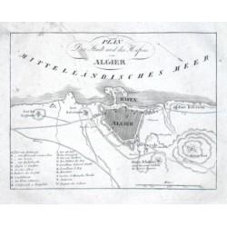 Plan der Stadt und des Hafens von Algier