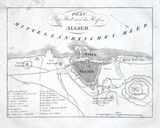 Plan der Stadt und des Hafens von Algier - Alte Landkarte
