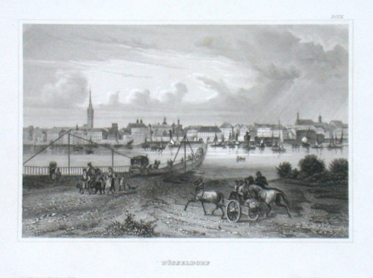 Düsseldorf - Stará mapa