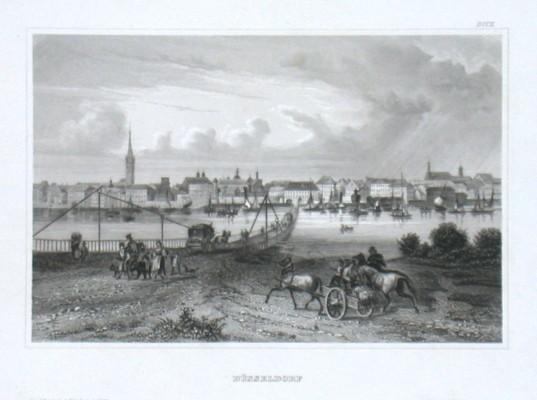 Düsseldorf - Alte Landkarte