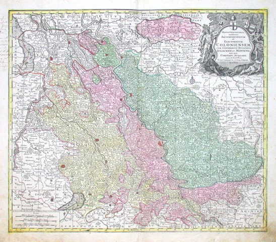 Mappa geographica, continens  Electoratum Coloniensem - Stará mapa
