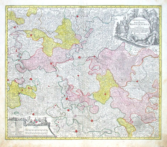 Archiepiscopatus et Electoratus Moguntinus, ut et - Stará mapa