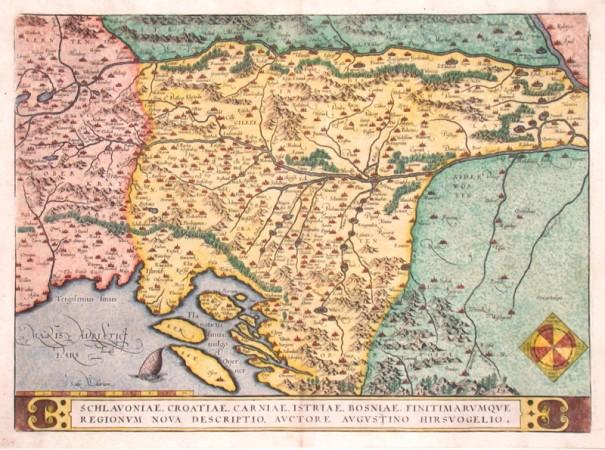 Balkán - Schlavoniae, Croatiae, Carniae, Istriae, Bosniae, finitimarumque regionum nova descriptio - Stará mapa